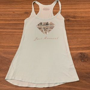 Victoria's Secret Just Married Tank Top medium